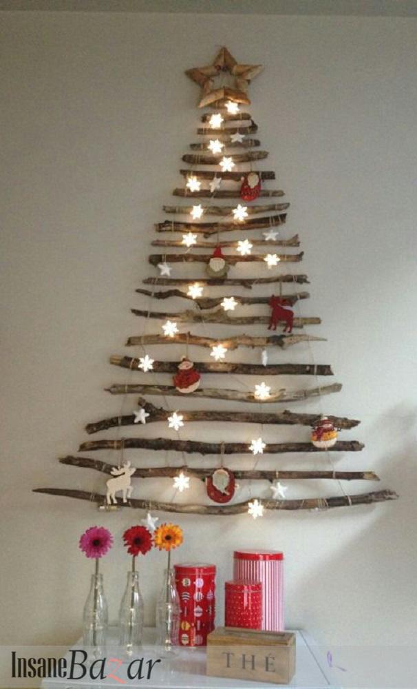 ... una grande stella in legno comprata ai mercatini di Natale come punta